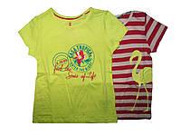 Футболка для девочки, ( 2 шт в упаковке), размер 98/104, Lupilu, арт. 271401