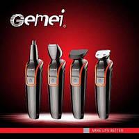 Gemei машинка для стрижки, триммер для бороди 4 в 1, фото 1