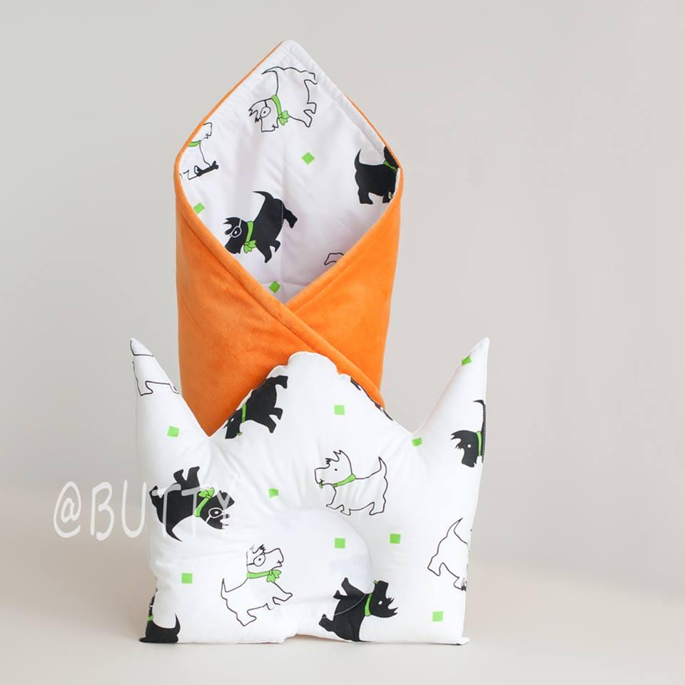 """Конверт на выписку и подушка для новорожденного """"Doggy"""""""