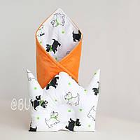 """Конверт на выписку и подушка для новорожденного """"Doggy"""", фото 1"""