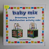 Деревянный сортер многофункциональный куб Baby Mix
