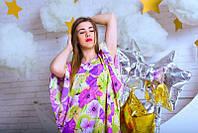 """Женское платье-кимоно """"Нежный цветок"""""""