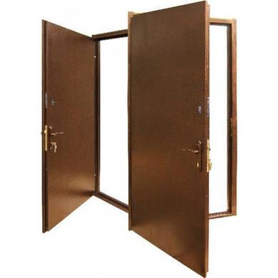 Металлическая входная дверь с 2-х сторон металл сталь 1.2 мм. + 1 мм.БЕЗ ЗАМКА