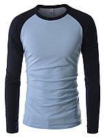 Мужская трикотажная футболка с длинным рукавом