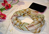 Брендовый шарф-хамут