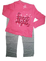 Пижама трикотажная для девочки, размеры 86/92,98/104,110/116, 110/116, Lupilu, арт. 776074