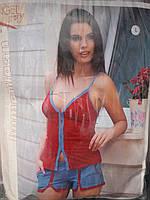 Женский трикотажный костюм майка с шортами
