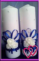 """Свадебные свечи набор """"Три розочки"""""""