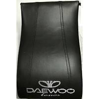 Подлокотник модельный Daewoo Lanos с логотипом черный (12236)