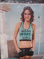 Женский костюм для спорта топ и шорты