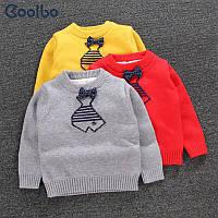 Детский вязанный свитер с бабочкой
