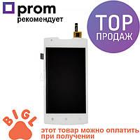 Дисплей для мобильного телефона Lenovo A1000, белый, с тачскрином / Экран для Леново, белого цвета