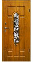 Двери VIP Украина АРМА Т-7 86 Винтаж ковка см левая Дуб темный (венорит) 100 % вата (105)