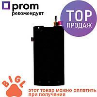 Дисплей для мобильного телефона Lenovo A1000, черный, с тачскрином / Экран для Леново, черного цвета