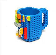 Чашка конструктор Lego. Синяя