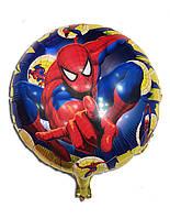 """Шарик фольгированный """" Человек паук """" диаметр 45 см"""