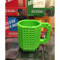Уценка! Чашка конструктор Lego. Зеленая
