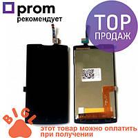 Дисплей для мобильного телефона Lenovo A2010, черный, с тачскрином / Экран для Леново, черного цвета