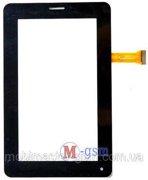 Тачскрин (сенсорный экран) (p/n: CS-CTP7032-A, CZY6384B01-FPC) черный, фото 2