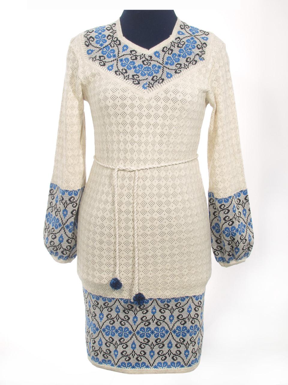 Вязаное платье Веночок