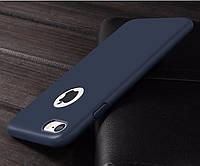 Синий матовый силиконовый ультратонкий чехол для iPhone 7 8