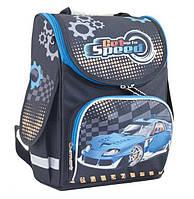 Ранец школьный ортопедический Smart Blue car 553424