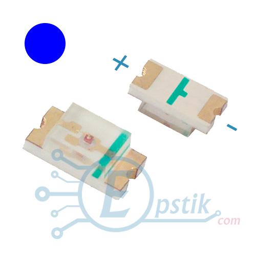 Світлодіод синій, 70-120mcd., 3-3.4 V., SMD 0603