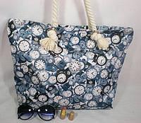 Модная вместительная женская сумка для пляжа