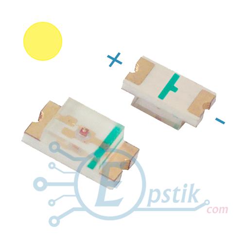 Жовтий світлодіод, 70-120mcd., 2-2.6 V., SMD 0603