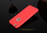 Красный матовый силиконовый ультратонкий чехол для iPhone 7 8