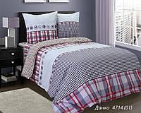 Полуторное постельное белье Бязь люкс Данко 100% хлопок