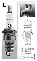 Свечи зажигания Super LR15YC-1.4B к ВАЗ 2101-2109, 2121, 2110-2115( 8 клап. двиг) BRISK, Чехия
