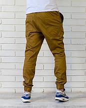 Летние брюки джоггеры горчичного цвета, фото 3