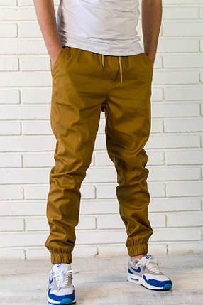 Летние брюки джоггеры горчичного цвета, фото 2
