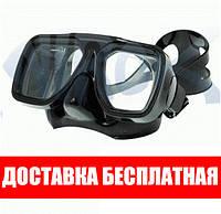 Маска для плавания Marlin Techno; чёрная Марлин Техно подводной охоты дайвинга снорклинга