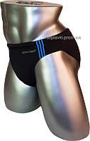 Мужские плавки для купания большого размера Atlantic Beach 7699D-1 черный с голубым
