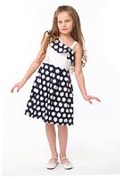 Нарядное платье для девочки в горох  Луиза