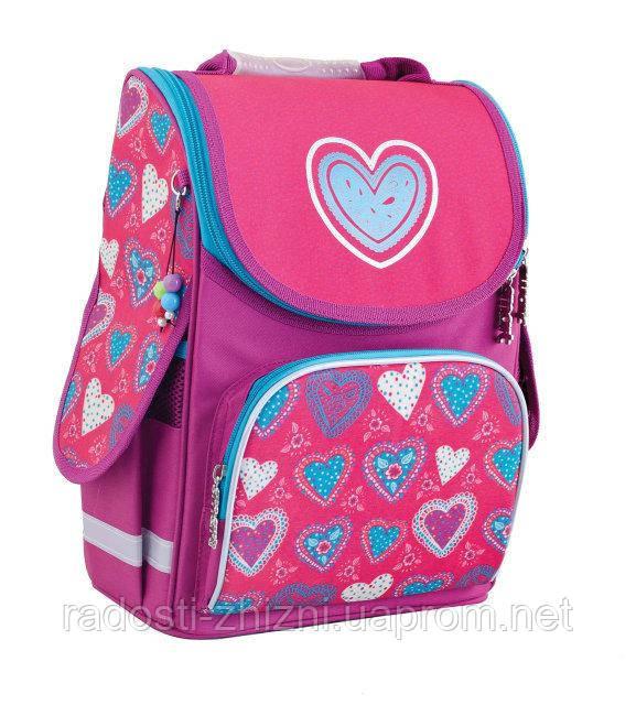 Ранец школьный ортопедический Smart Blue heart 553320