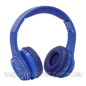 Накладные Bluetooth наушники гарнитура Wireless Crack MS-992A  копия monster beats solo 2 , Blue