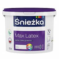 Краска матовая латексная стойкая к мытью ŚNIEŻKA MAX LATEX