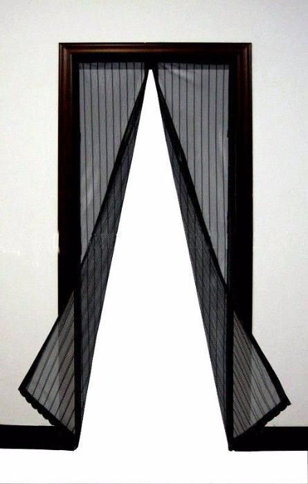 Штора,занавеска Magic mesh Антимоскитная сетка на магнитах 210*100 см синяя,красная,зеленая и желтая,черная