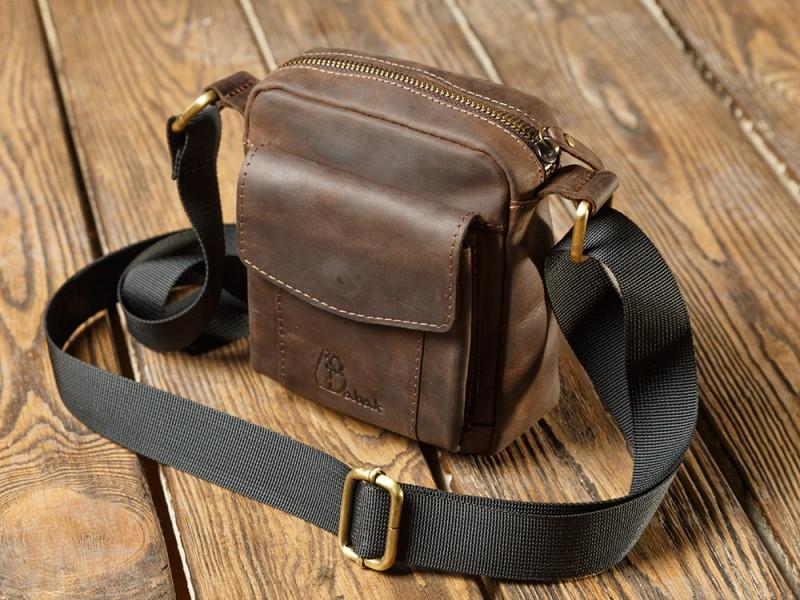 Вінтажна чоловіча сумка зі шкіри Babak 899051