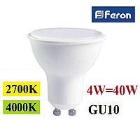 Светодиодная лампа Feron LB-240 4W GU10 MR-16
