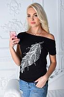 Летняя модная  футболка с картинкой