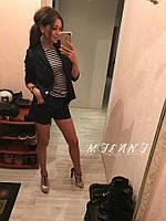 Женский летний костюм пиджак+шорты габардин размеры 42,44,46
