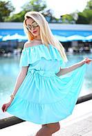 Летнее яркое платье с оборками 8025 (ВИВ)