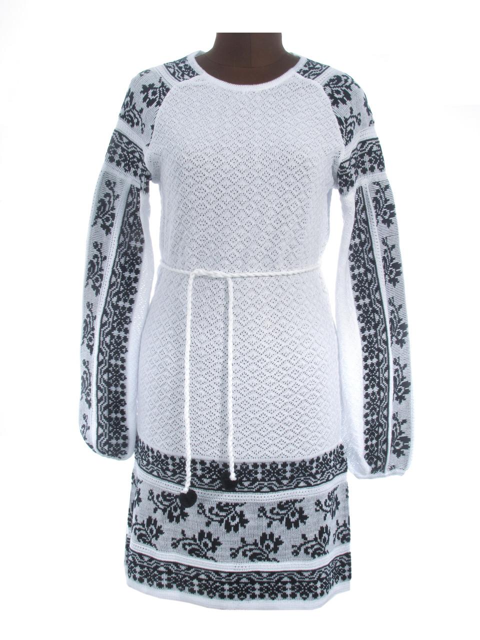 Вязаное платье (х/б) 0516