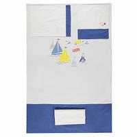 Детская постель Bebetto Кораблики 4 предмета white/blue
