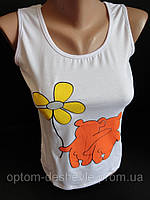 Купить однотонные майки на лето для девушек.., фото 1