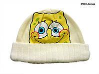 Теплая шапка для мальчика на флисе. 55 см